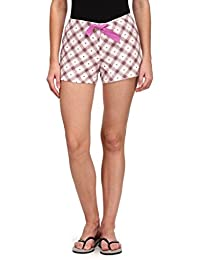 Wear Your Mind Brown Cotton Printed Hot Shorts For Women FPLS001.7W.J