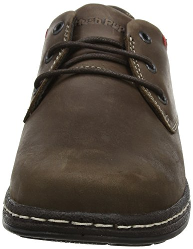 Hush Puppies Herren Villy Victory Derby Schnürhalbschuhe, Braun Braun (Brown Waxy)