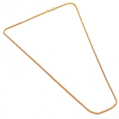 Chain Box Neck Designer 24 inch 22 ct gold plated Branded Stylish Beauty New Natural Jewelry 6078