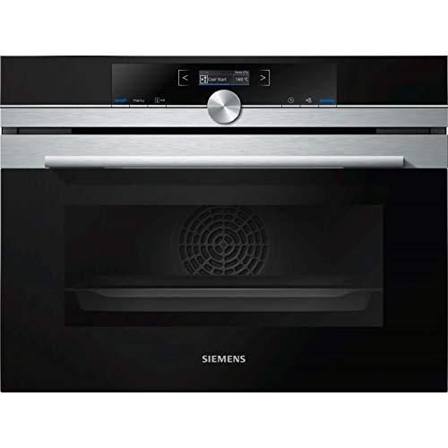 Siemens iQ700 CB675GBS3 - Horno Medio, Horno eléctrico, 47 L, 2990 W, 47 L, 300 °C