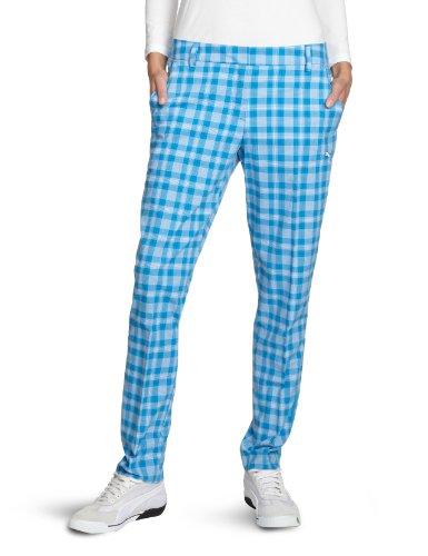 PUMA Golf Damen Hose Kinetic Plaid, diva blue, 40 , 561012