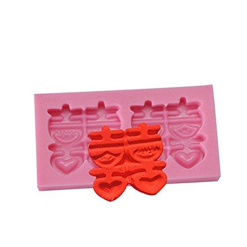 Bazaar Doubles Xi Words Silikonform für Schokolade, Polymerton (Schokolade Conditioner)
