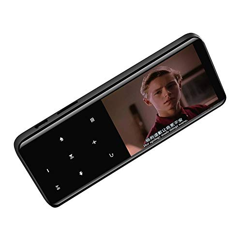 -Player, Touchscreen-HiFi-Player, Bluetooth Music Walkman, Multimedia-FM-Radio, E-Book, Digitaler Sprachrekorder, Video-MP4-Player, Erweiterbare 32 GB-TF-Karte, Schwarz ()