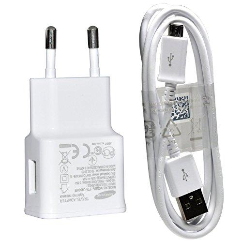 Samsung U90 Original Ladekabel ETA-U90EWEGSTD mit ECBDU4AWE USB 2.0 Datenkabel Netzteil 2000 mAh für SM-G900F Galaxy S5 weiß (Samsung Galaxy S-ladeanschluss)