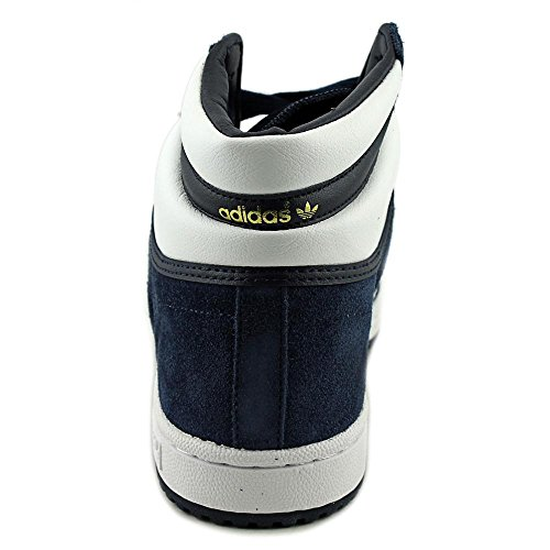 Adidas Originals Top Ten Hi scarpa da basket, bianco / rosso / blu, 8 M Us Collegiate Navy/White/Collegiate Navy
