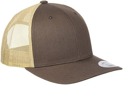 2-tone Baseball Cap (Flexfit Retro Trucker 2-Tone Kappe, BRN/Khaki, One Size)