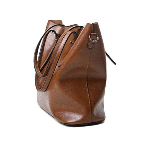 Borsa A Tracolla Tote Bag Da Donna Retro Elegante Borsa A Tracolla In Pelle PU Borsa Da Donna A Tracolla In Pelle Brown