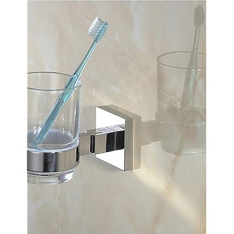 Accessori da bagno qmm,Porta spazzolini , Moderno Lucidatura a specchio A muro - Porta Specchio Ottica