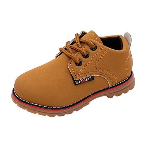 manadlian Chaussures Bébé Hiver Bébé Filles Garçons Armée Enfant Style de Martin Boot Chaussures Chaudes