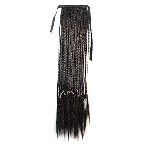 Noir 50 cm perruque de cheveux longs perruque de cheveux synthétiques Extensions de cheveux Ponytail