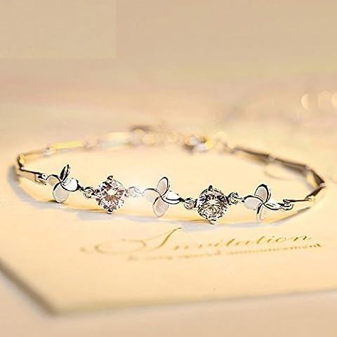 Bracciale in argento Sterling XJoel Glücksklee il Celtic Claddagh fascino del braccialetto u. trifoglio