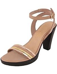 Catwalk Nude Western Heel Sandals