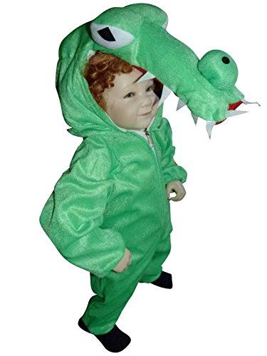 Krokodil-Kostüm, An64/00 Gr. 74-80, für Babies und Klein-Kinder, Krokodil-Kostüme Krokodil für Fasching Karneval, Alligator Klein-Kinder Karnevalskostüme, ()