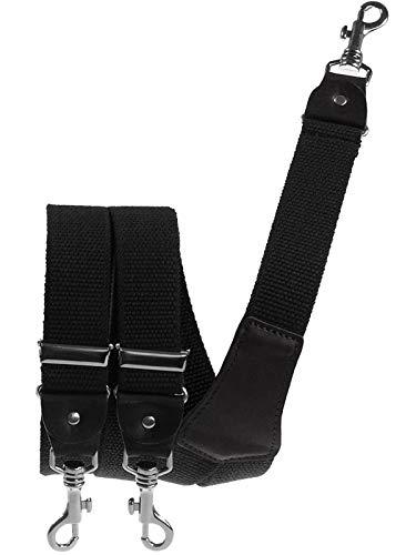 Harrys-Collection Extra starker Hosenträger mit Karabinerhaken, Farben:schwarz, Größen:120 cm - Männer Gürtelschlaufe, Für Hosenträger