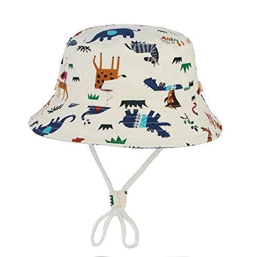 ter Kinderhut Fischerhut Sonnenhut Strandhut Babymütze Sonnenschutz (Zoo, Hut Umfang 50cm) (Mädchen Weiße Sonne Kleider)