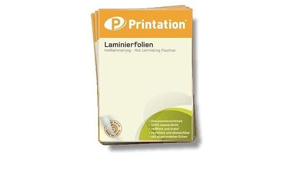 Laminierfolien 54 x 86 mm Visitenkarten Kreditkarten glossy Laminiertaschen gl/änzend Laminierfolie Folienst/ärke 125 Mic 100er Pack