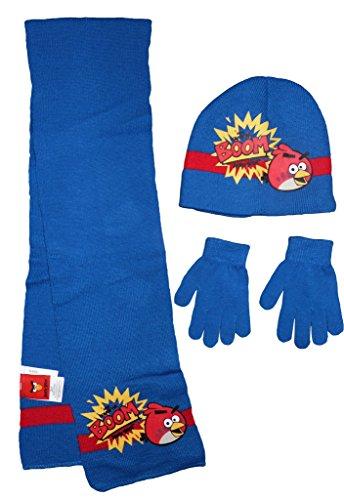 Kids Angry Birds-Winter-Hut Schal Handschuhe Set