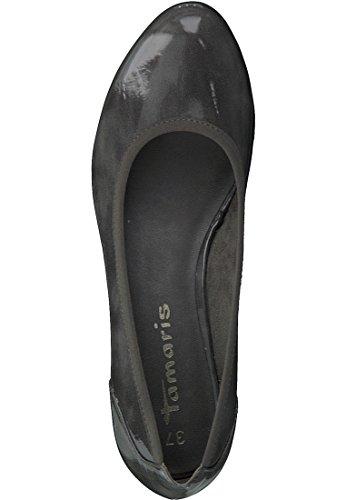 Tamaris Pompe Zeppe grigio 1-22304-27 350 taupe Struttura Anthracite Patent