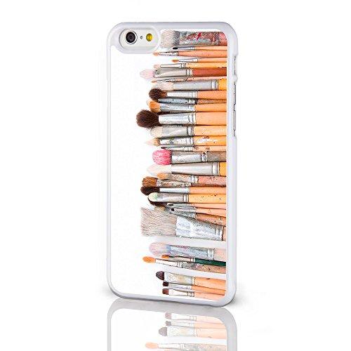 Artiste Collection Coques pour la gamme Iphone. Peinture Palette Aquarelle Crayons Coque arrière rigide pour iPhone modèles à partir de icasedesigner, plastique, Paint Palette on a Black Background, i Artists Paint Brushes on a White Background