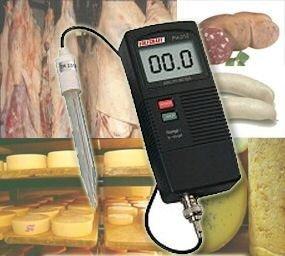 OCS.tec PH-Einstechmessgerät Tester Prüfer Meter Fleisch Käse Cocktail Säfte Wein Teig Seife Creme P16 (Saft Seife)