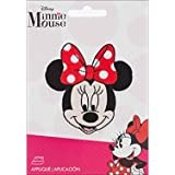 Disney Mickey Mouse Iron-On Applique-Minnie Mouse With Bow