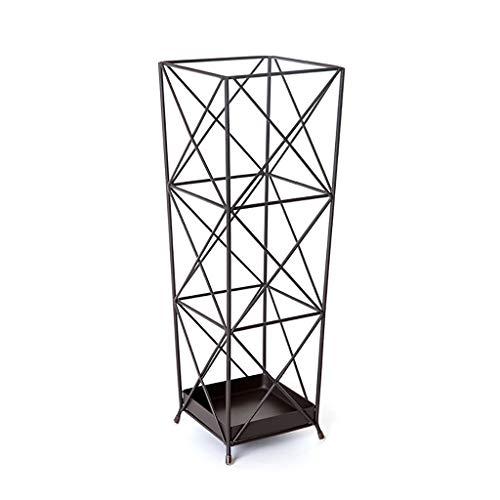 JBFZDS Schirmständer, Europäisches Hotel Schirmständer Haushaltsschirmfass Kreative Geometrische Schmiedeeisen Schirmständer Lagergröße (DREI Farbauswahl) (Color : Black) -