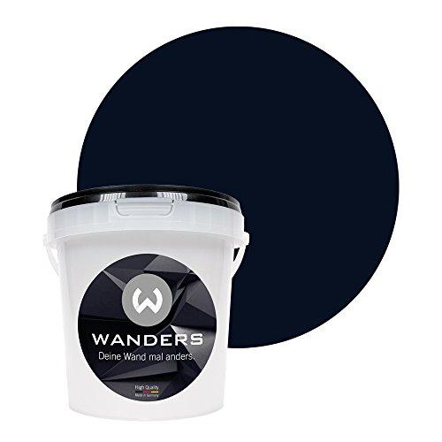 Wanders24 Tafelfarbe (1Liter, Schwarz) matte Wandfarbe in 20 Farbtönen erhältlich, individuelle Gestaltung für Zuhause, Farbe made in Germany