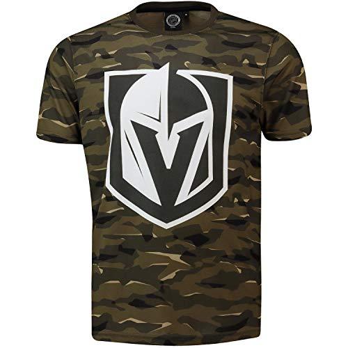 NHL T-Shirt Las Vegas Golden Knights Digi Camo Camouflage Logo Eishockey (L)