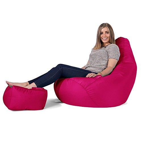 Big Bertha Original, Gaming Sitzsack Sessel Mit Passendem Hocker, Pink