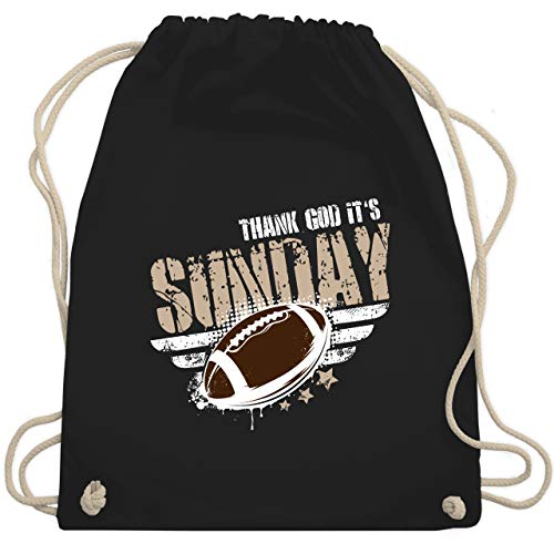 American Football - Thank God Its Sunday Football - Unisize - Schwarz - WM110 - Turnbeutel & Gym Bag