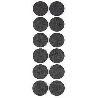 ProHome Filzgleiter Bodengleiter anthrazit selbstklebend rund und eckig auswählbar (Rund Ø 40 mm)
