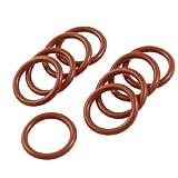 20mm x 2.5mm Silikon O Ring Öldichtung scheiben Grommets Rot 10 Stück