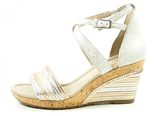 Gabor 62-820 Damen Sandalen Plateau Keil Sandaletten Weite G, Schuhgröße:39;Farbe:Silber