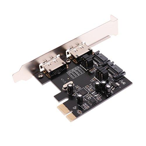 KESOTO 2 Port PCI-E zu SATA3.0 / ESATA Konverterkarte Erweiterungskarte 6 Gbps - Esata Erweiterungskarte