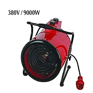 RUIX Calentador Industrial 3KW / 5KW / 9KW, Calentador Eléctrico Doméstico Multifunción Comercial, Ajuste De 3 Velocidades, 220V-380V,3000W/23Caliber