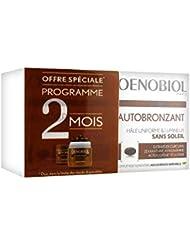 Oenobiol - Autobronzant - Hale Intense & Uniforme sans Soleil - Formule Renforcee - Complement Alimentaire Aux Extraits Naturels - Lot de 2x30 capsules - 2x16.5 g