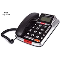 TELÉFONO FIJO MODERNO CON IDENTIFICADOR DE LLAMADAS KOOLTECH TE633