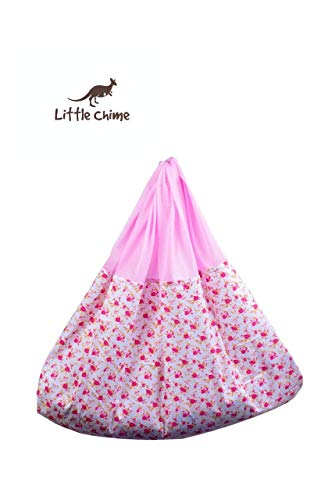 Little Chime Ventilated Cradle (Jhula) comprising of Cradle Cloth (Pink Cloth)