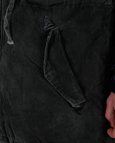 Redbridge Herren Mantel Material-Mix Biker Jacke RB-41461 Khaki Khaki
