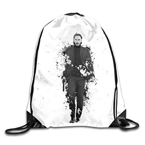 moguiyu2067 kjhglp Men Women Brave John Poster Wick Gym Drawstring Drawstring Backpacks Shoulder Bags Sport Sack Backpack for Home Travel Exercise Beam Mouth Package A3488