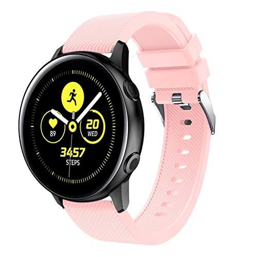 uhrenarmbänder -Für das Samsung Galaxy Watch Active Sport-Ersatzband aus weichem Silikonband (E)