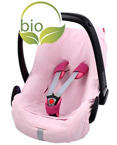 Funda de verano ByBoom para moisés, 100% algodón ecológico, universal, para Maxi-Cosi, CabrioFix, Pebble, City SPS, Color rosa