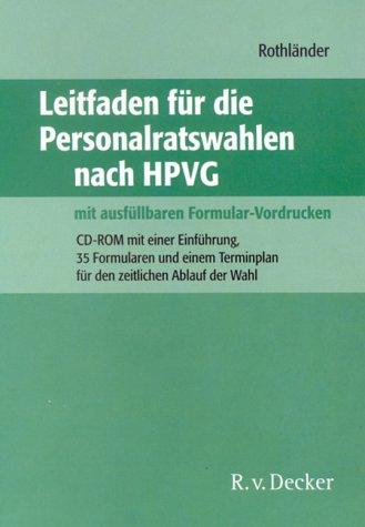 Preisvergleich Produktbild Leitfaden für die Personalratswahlen nach dem HPVG