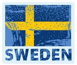 die reise nach schweden reise aufkleber siegel koffer. Black Bedroom Furniture Sets. Home Design Ideas