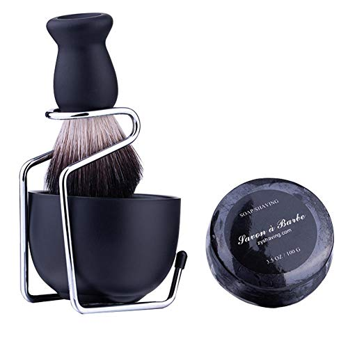 Porte brosse à barbe Porte-pinceau barbe porte-savon haut de gamme portable + savon savon à barbe - Yves25Tate