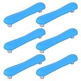 GODNECE - Set di 6 Maniglie per cassetti, per Bambini, 96 mm, per la cameretta dei Bambini, per armadi da Cucina, Camera da Letto, ECC, PVC, Blu, 12,3x2,5x2,4cm