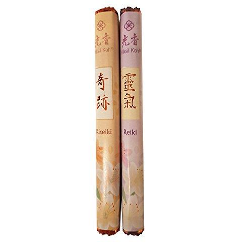 Intensive Rollen (Japanische Räucherstäbchen 2er Set Hikali Koh: REIKI(Spirituelle Energie) und KISEIKI(Intensive Lebenskraft), je 1 Rolle mit 28 Stäbchen)