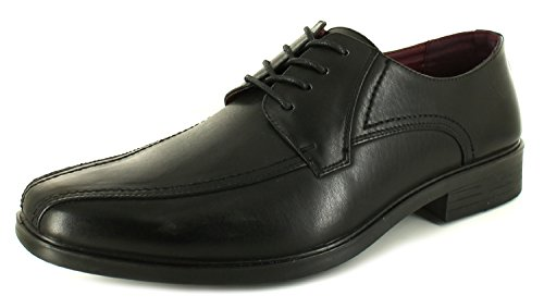 New Mens/Gents Black Synthetic Leather Upper Lace Ups Formal Shoes. - Black - UK SIZE 8