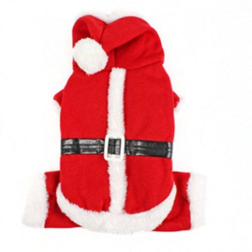 Aprettysunny Winter Warm Dog Hoodies Mäntel Weihnachten Halloween Pet Kostüme Kleid Rot Kleidung