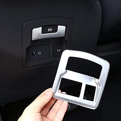 Cadre de commutateur de Porte ABS arrière en Plastique ABS Couvercle de Frein à Main électronique Garniture d'accessoires de Voiture pour RR VELAR 2017 2018 Argent Mat